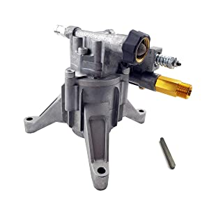"""Power Washer Pump 2800PSI 2.5 GPM Axial Radial Drive Pressure Washer Pump 7/8"""" Shaft Brass Head for 200cc Gasoline Engine, Power Washer Parts Kit with Key Way Stock"""