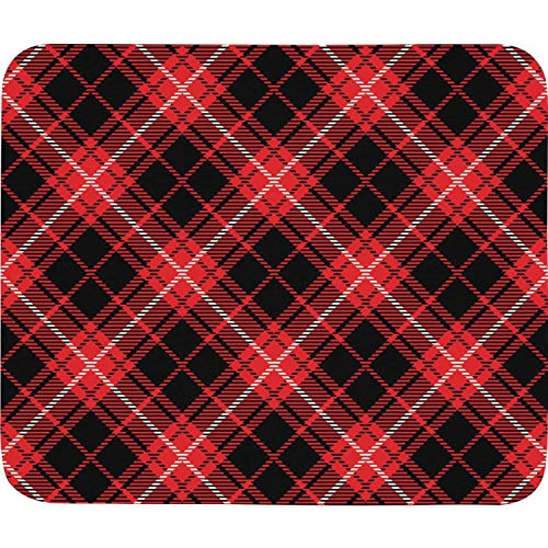 Women's Red Black Checkerboard British Plaid Mosaic White Colorful Durable Gaming Office Cheap Washing Non-Slip Rubber Base Mouse pad