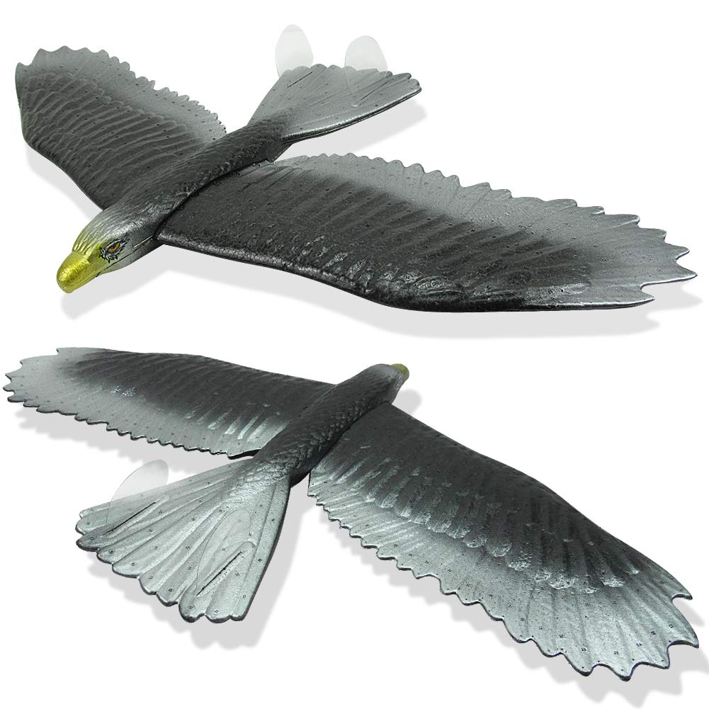 INOSA 2 Pack Eagle Foam Airplane Toys, Hand Launch Glider Plane DIY Aviation Model Toy, Outdoor Sports Toys, The Gift for Kids, Boys and Girls (Eagle) by INOSA