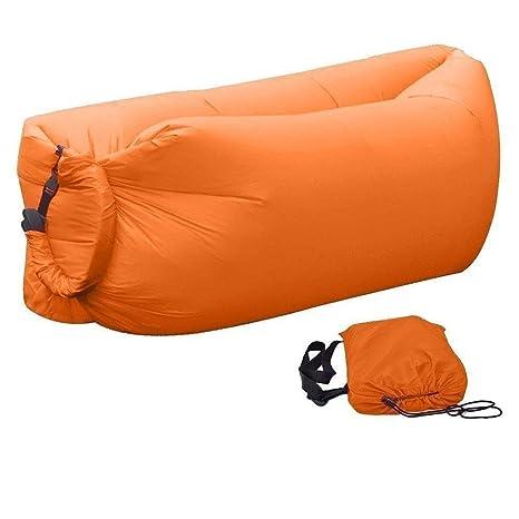 Práctico inflable Sofá Camilla Aire Asiento Saco de compresión Air Sleep Bed F & # 252