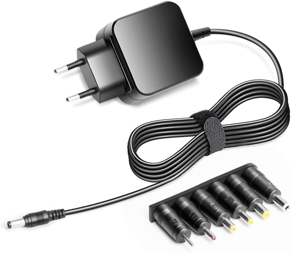 KFD Adaptador 9.5V 2A Cargador Universal para LG Electronics DPAC1 Go Video, Pioneer Sony Philips Sylvania Dynex DVD Player, Sony SRS-XB40B SRS-XB40 Altavoz, Odys Wintab 10 Xpress con 6 Conectores