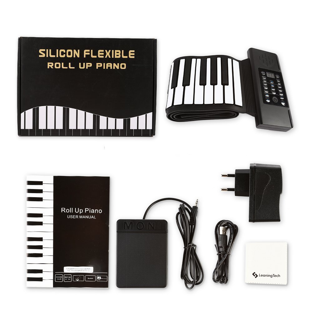 88-Keys Roll Up Piano Upgraded Portable Rechargeable Hand Roll ...