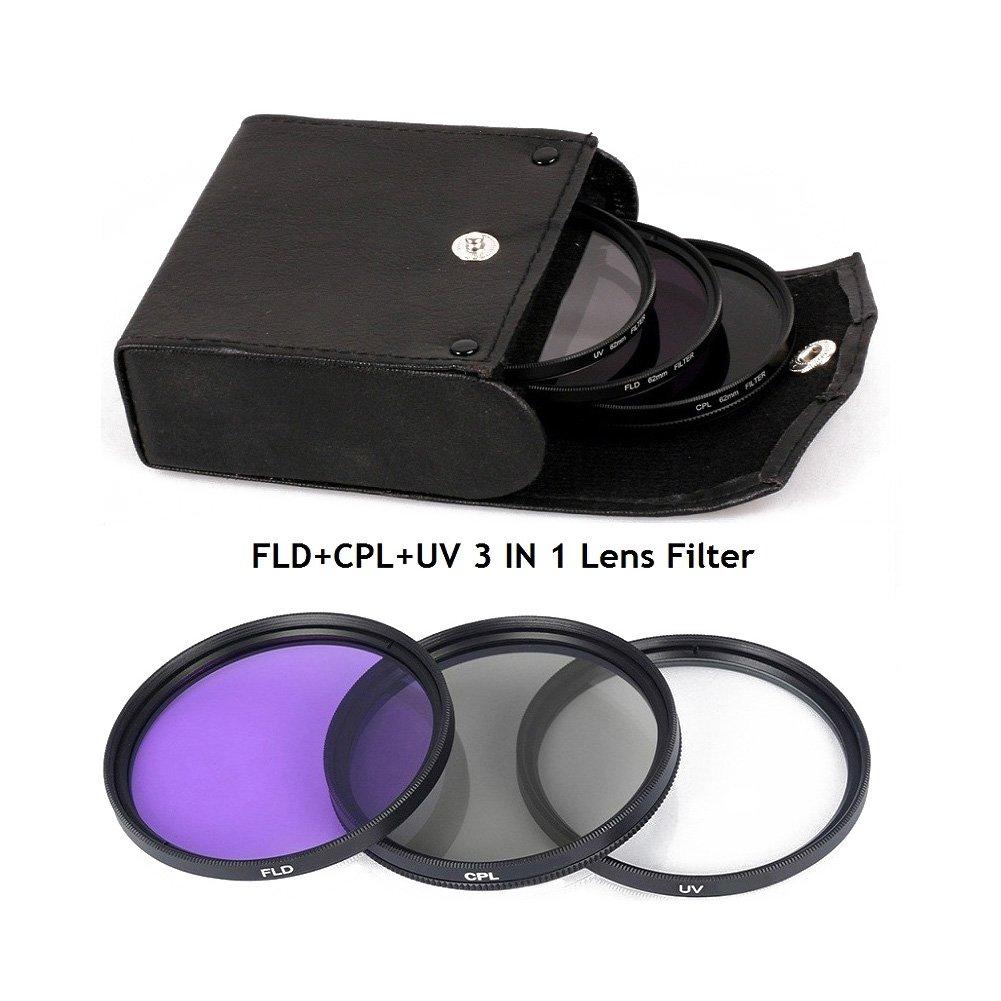 Lightdow 55 MM UV + CPL + FLD 3 in 1レンズフィルタセットwithバッグforキャノンNikon Sony Pentaxカメラレンズ   B078W8GS2G