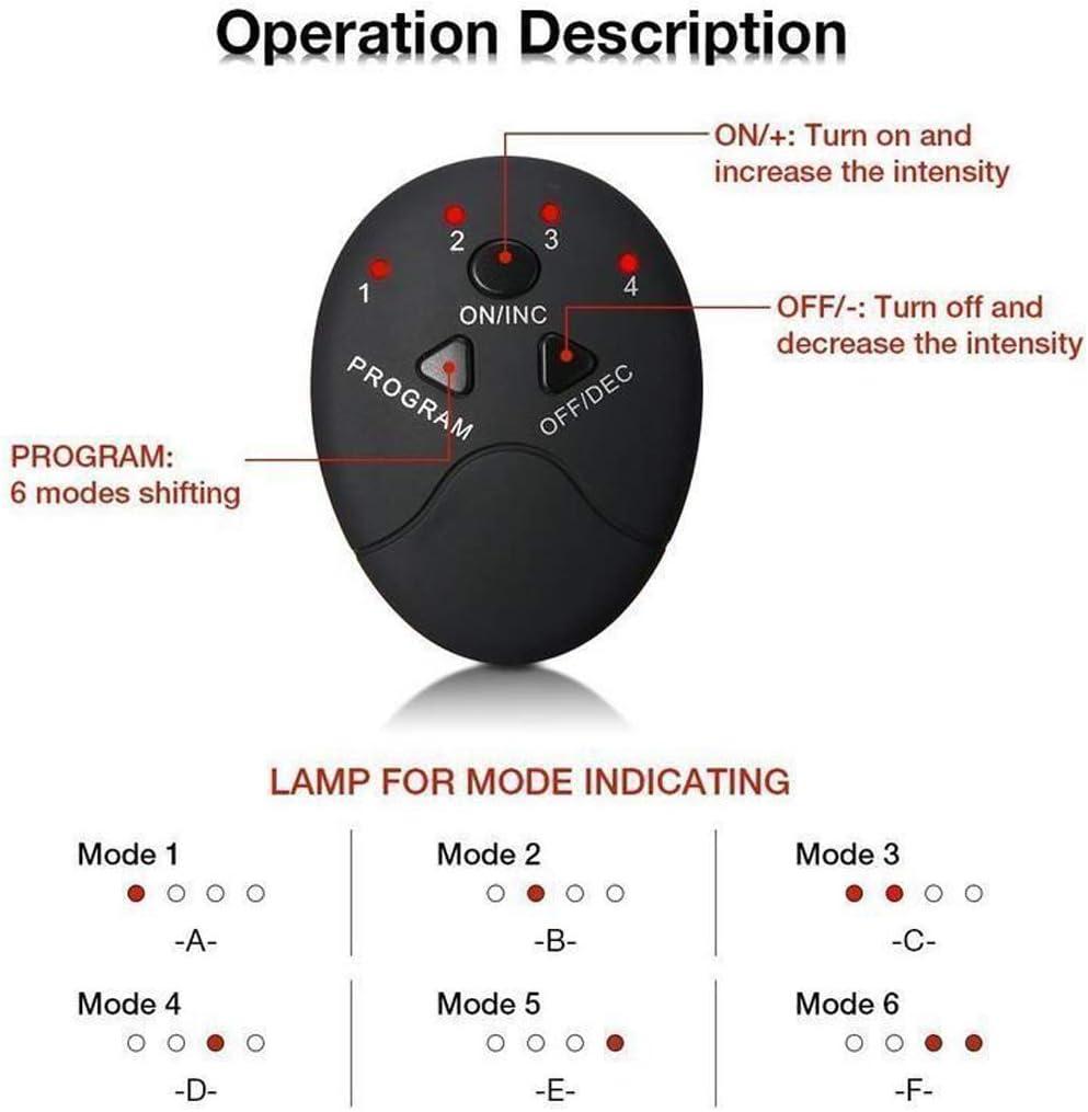 6 Pack CommercioEuropa Elettrostimolatore a Batteria per Addominali