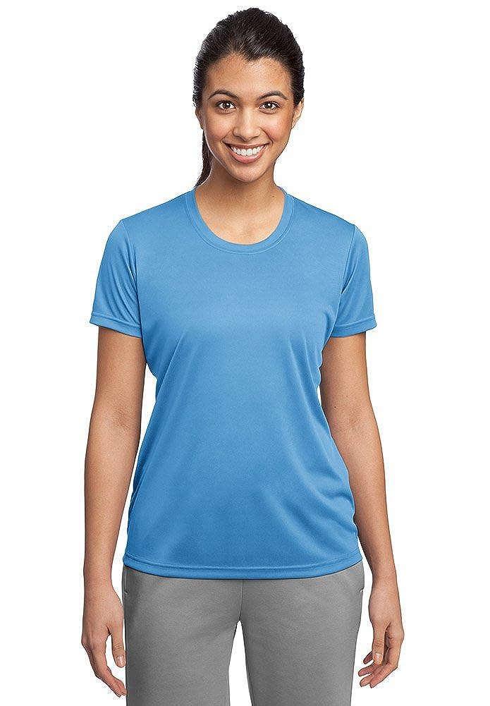 Carolina bluee DriWick Women's Sport Performance Moisture Wicking Athletic T Shirt