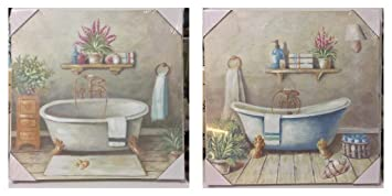 Quadri shabby chic free xx cm set di quadri decorativi birds cad with quadri shabby chic - Quadri per bagno ...