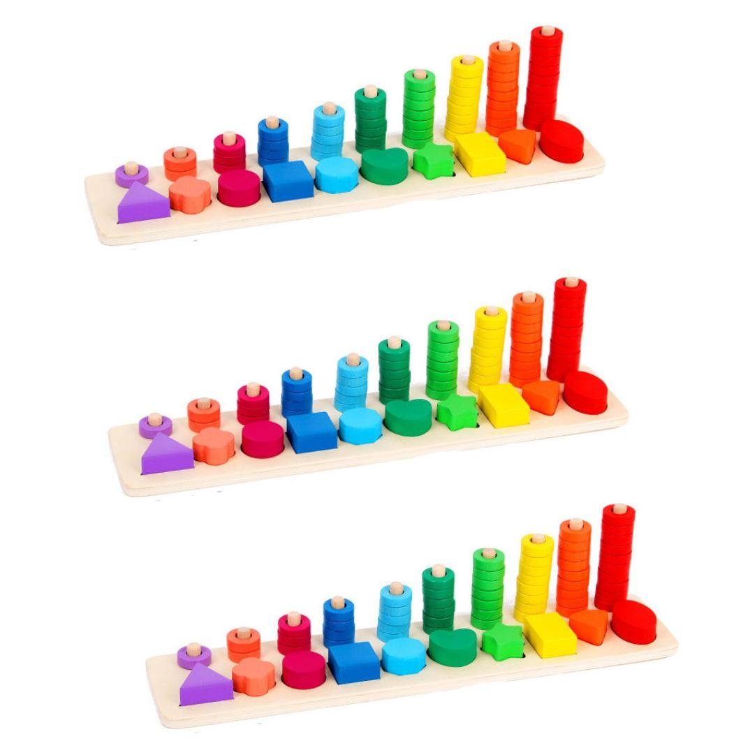 Wood Mathematics Toy//Kids Educational Toys,Y56 Kids Child Learning Developmental Versatile Flap Abacus Wooden Stacking Numbers Mathematics Early Learning Counting Educational Toy Home Living Children Kids Toy