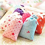 Mini Dried cute beautiful Flower Bud Filled Fragrant Sachet Bag Home Office Room Car Wardrobe Scent, fresher
