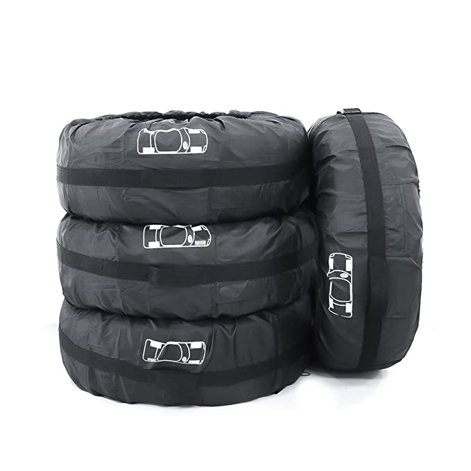 Alta Calidad Fundas para Rueda Repuesto para Neumáticos de Ruedas Recambio coche Cubre Cubierta Caso Protector Bolsas de Almacenaje Neumáticos 66cm de ...