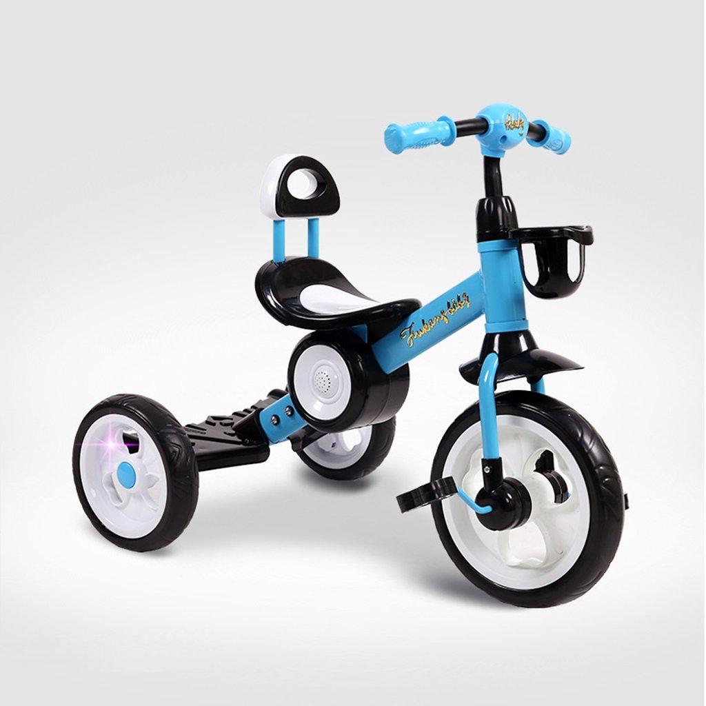 子供の三輪車2-6歳の赤ちゃんの自転車軽量の赤ちゃんの車の子供の自転車、赤/青、50 * 47 * 57センチメートル ( Color : Blue ) B07CFX24LX