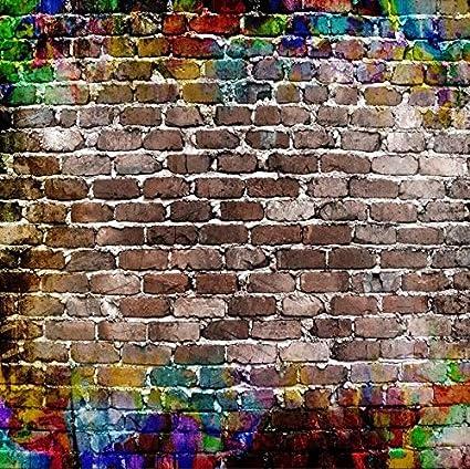 Amazon Com Baocicco Graffiti Backdrop Brick Wall Backdrop 6x6ft