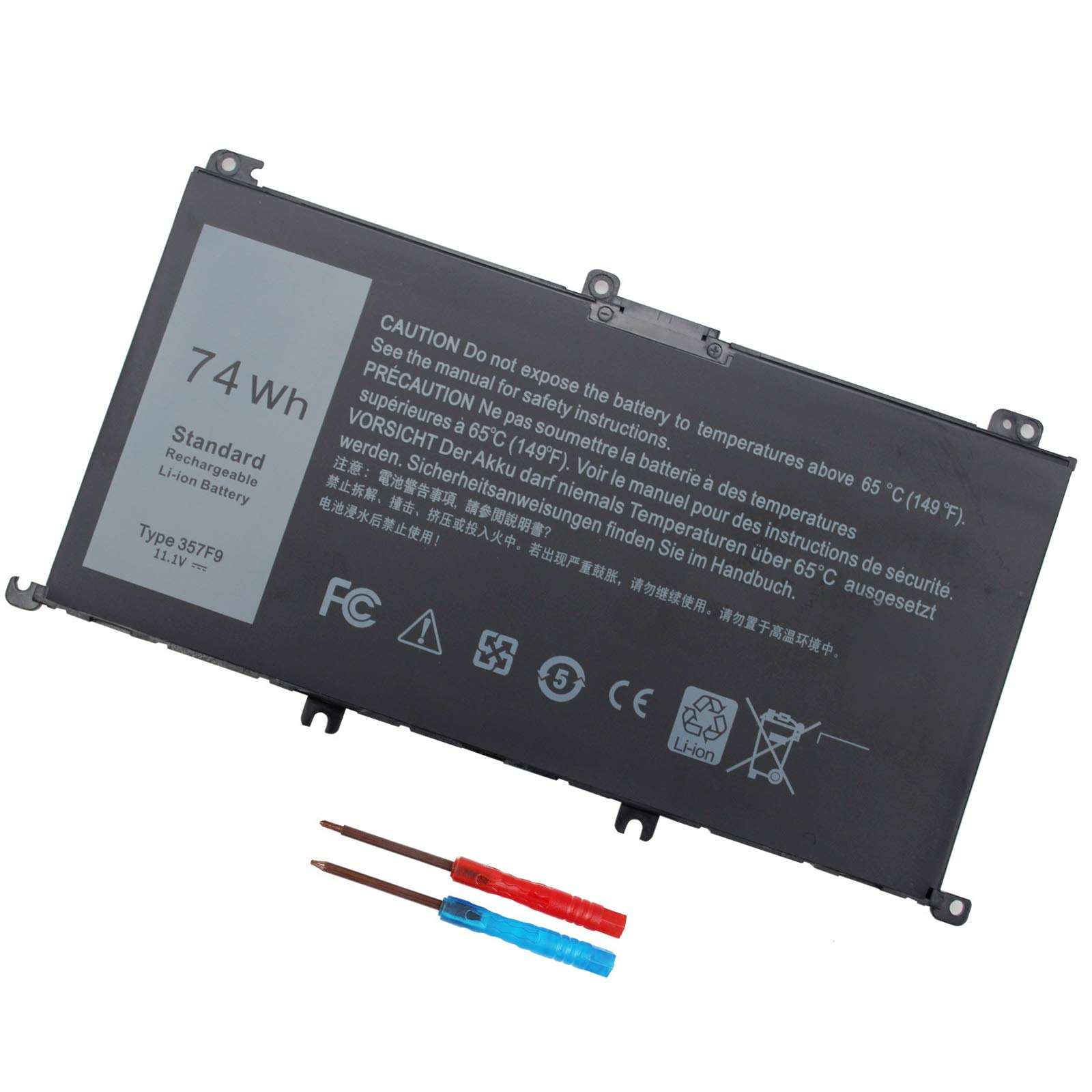357F9 Battery for Dell Inspiron 15 7000 7559 7567 7566 7759 7557 5577 INS15PD Series P57F P57F003 P65F P65F001 0GFJ6 71JF4 11.1V 74WH - 12 Months Warranty