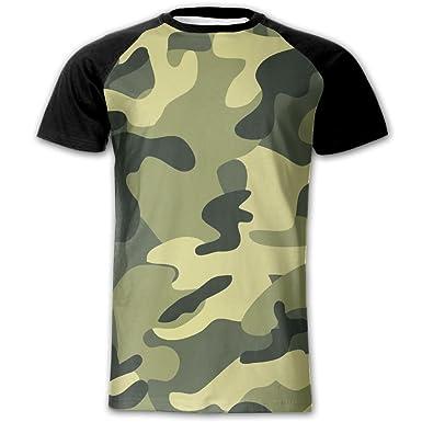 4334f7b3 Amazon.com: Green Camouflage Original 3D Print Men T-Shirt Tee Shirt ...