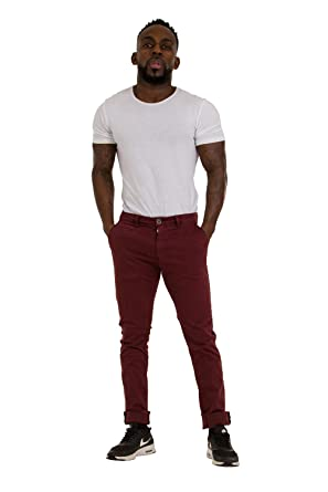 bright in luster attractivefashion 2019 authentic Y-Chromosome Slim Fit Mens Chinos - Burgundy Smart Casual ...