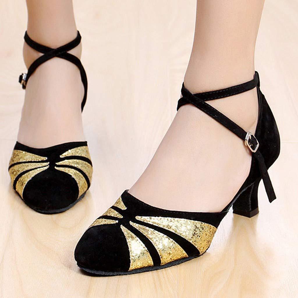 LILICAT✈✈ Zapatos de Baile//Zapatos Latinos de sat/én Mujeres Mujeres/&Ni/ña Zapatos Latinos de Baile Zapatillas de Baile de Sal/ón Salsa Performance Calzado de Danza,Modelo