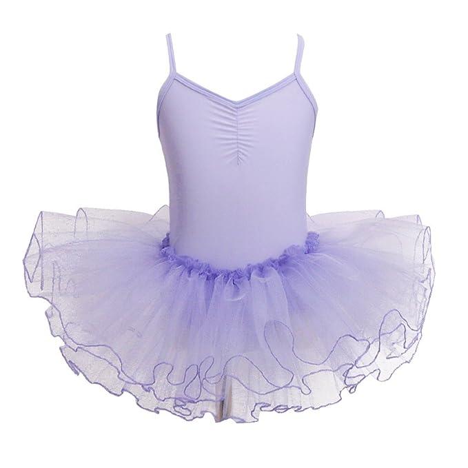 e4779a56e Amazon.com  FEESHOW Girls  Gymnastic Camisole Leotard Ballet Dance ...
