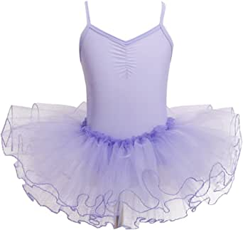 FEESHOW Girls' Camisole Gymnastic Leotard Dress Ballet Tutu Skirt Ballerina Dance