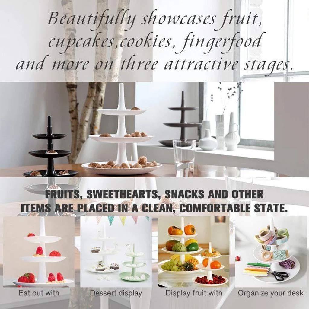 L ZRJCK Detachable Three-Layer Fruit Pastry Tray for Party Wedding Kitchen Supplies