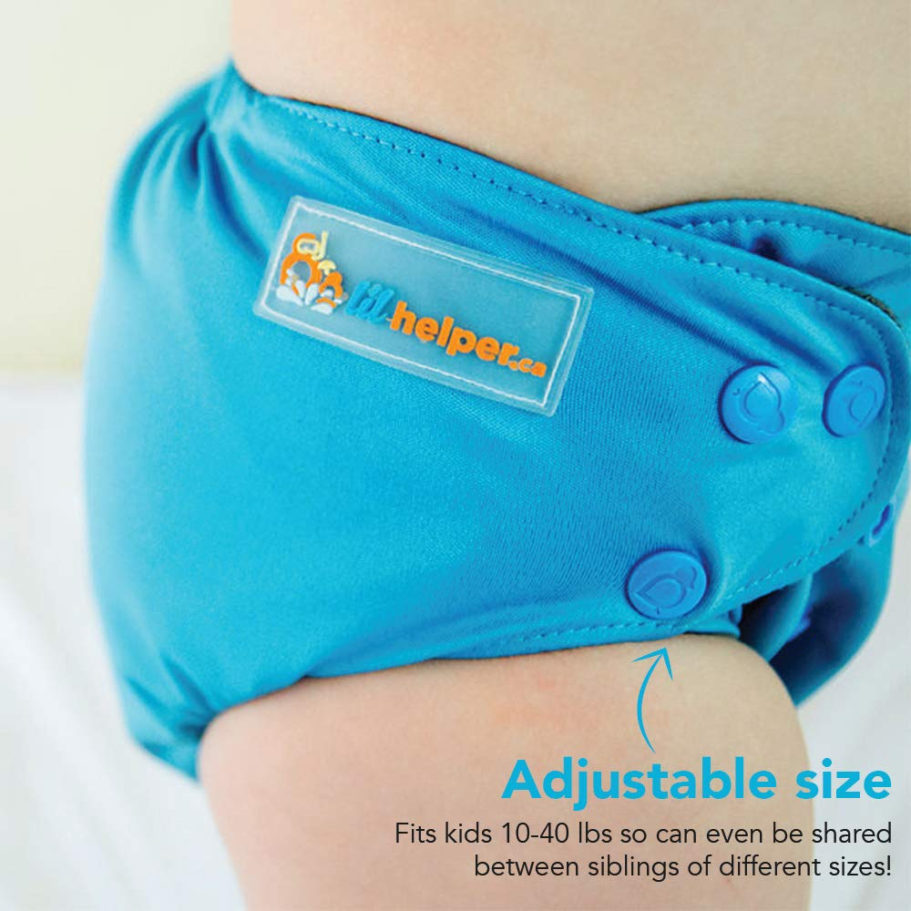 No Stains High Quality Adjustable Lil Helper Reusable Swim Diapers Mermaids Cloud Baby Boys /& Girls Easy One Size Fits All Patterns//Prints