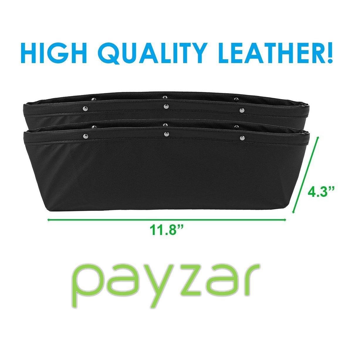Car Interior Accessories Premium PU Full Leather Seat Console Organizer Car Seat Side Drop Caddy Catcher 5559021794 2 Pack Car Seat Gap Filler By Payzar Car Pocket Organizer
