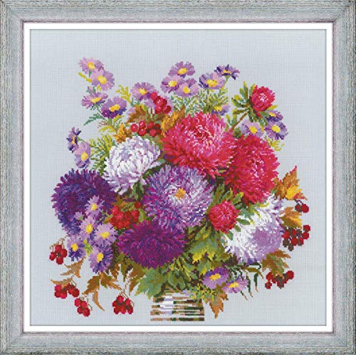 - RIOLIS 1773 - Bouquet with Asters - Cross Counted Stitch Kit 15.75