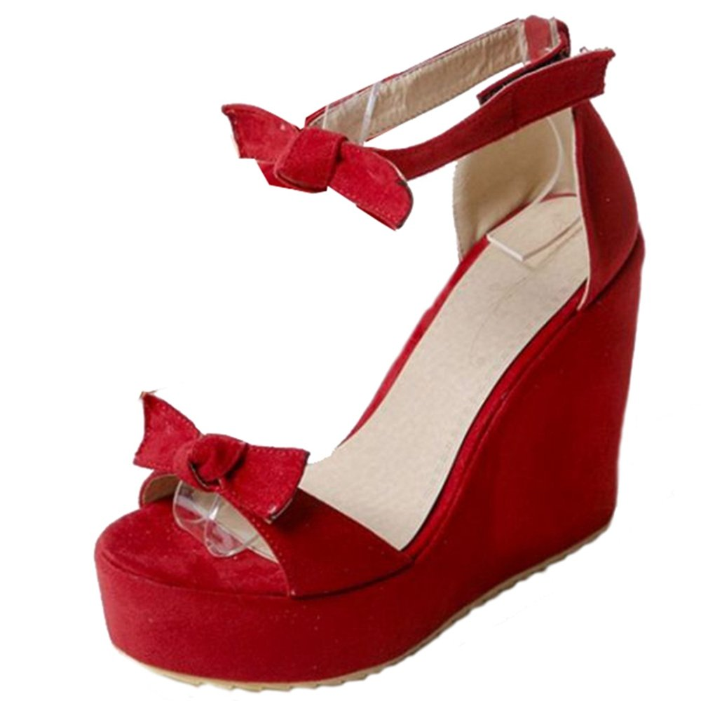 SMILICE Rouge Bout SMILICE Bout Ouvert Femme Rouge 40900ed - jessicalock.space