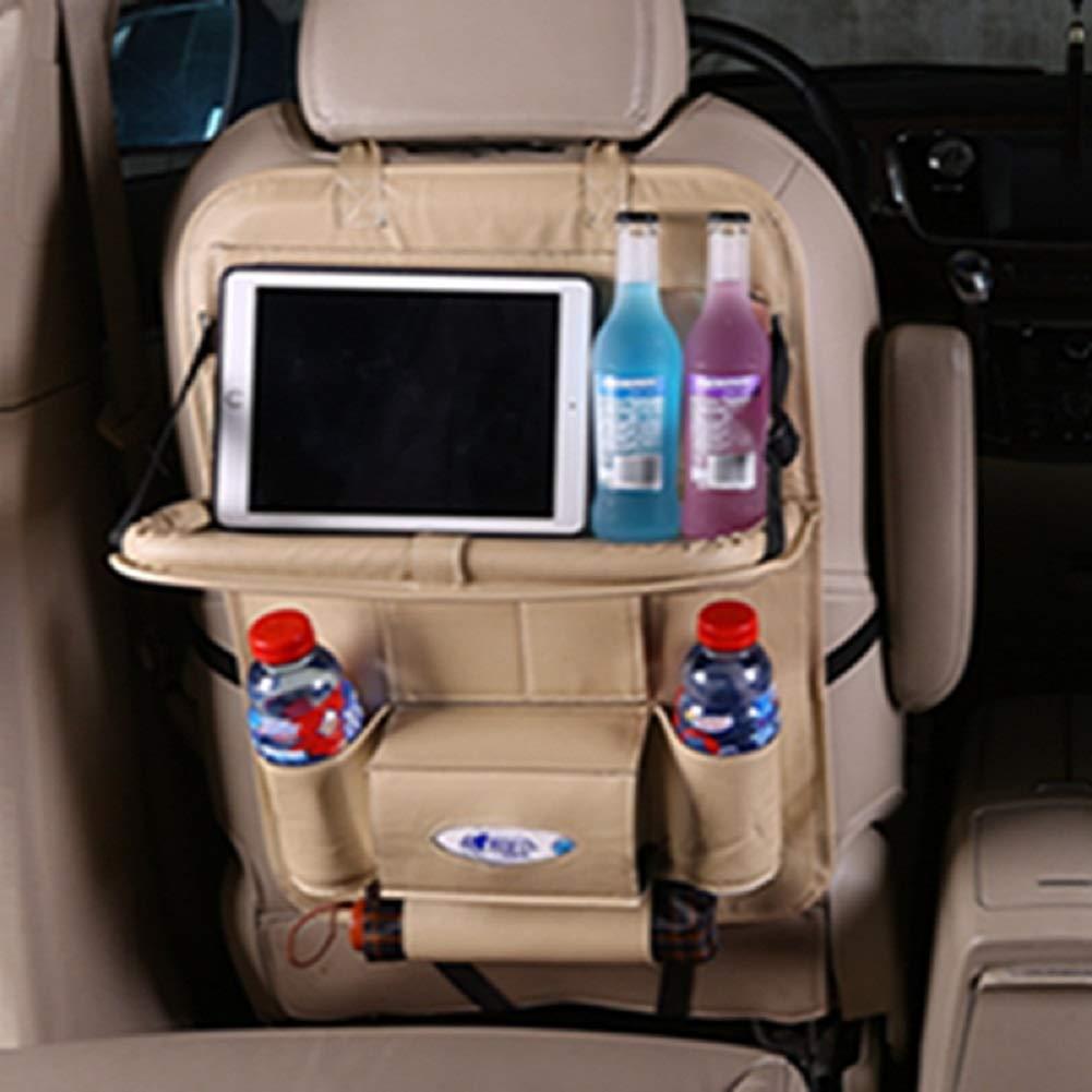 HHORD Sac de Rangement en Cuir pour siège de Voiture Sac de Rangement pour Voiture avec Sac de Rangement pour véhicule