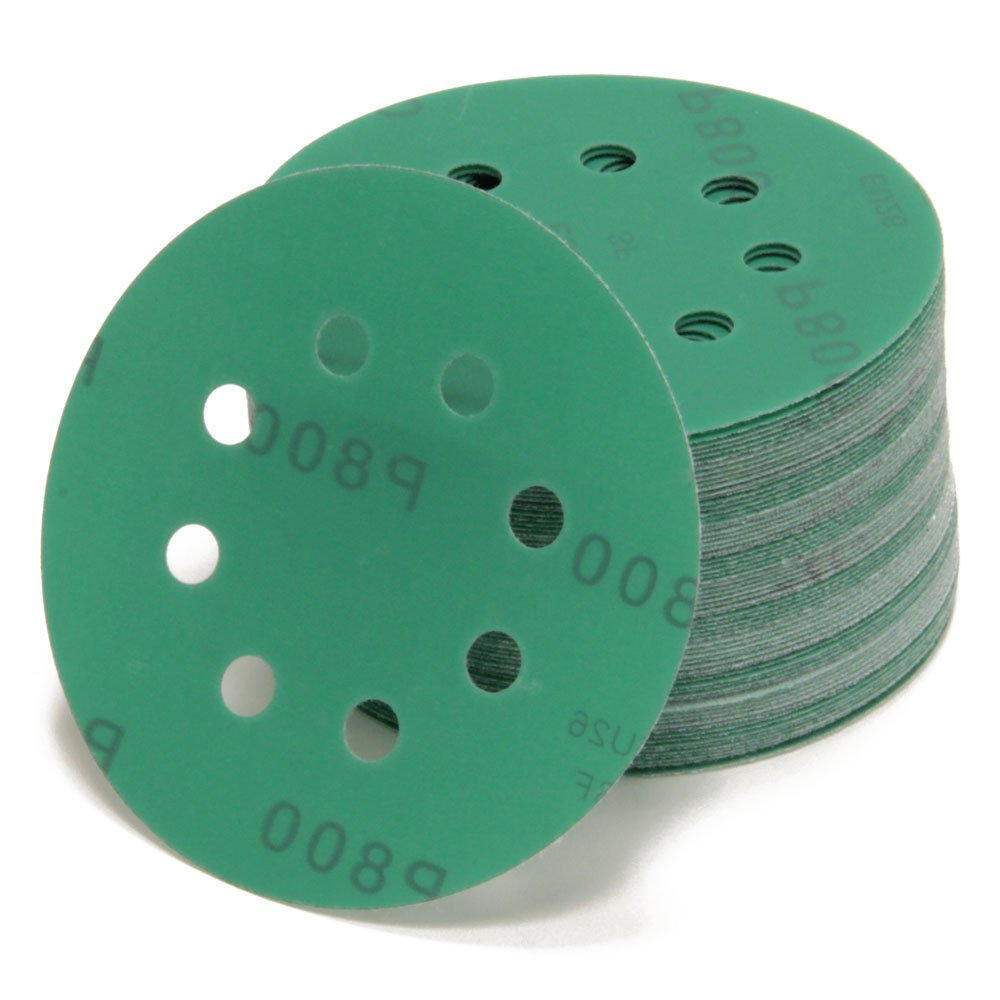 10  Random Orbit Sanding Discs Diameter 125  mm 8  hole P40  Grit P2000  | Green | for Optimal Bows, Universal Use | Velcro Sanding Paper Adhesive Woltersberger