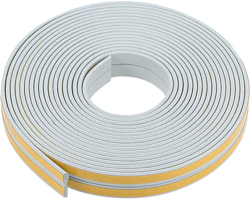 3 Meters Long Gray Pcs uxcell Foam Tape Adhesive Weather Stripping 9mm Wide 2mm Thick