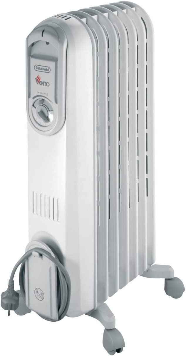 Delonghi Vento Electric Oil Filled Radiator 15 Kw Greywhite