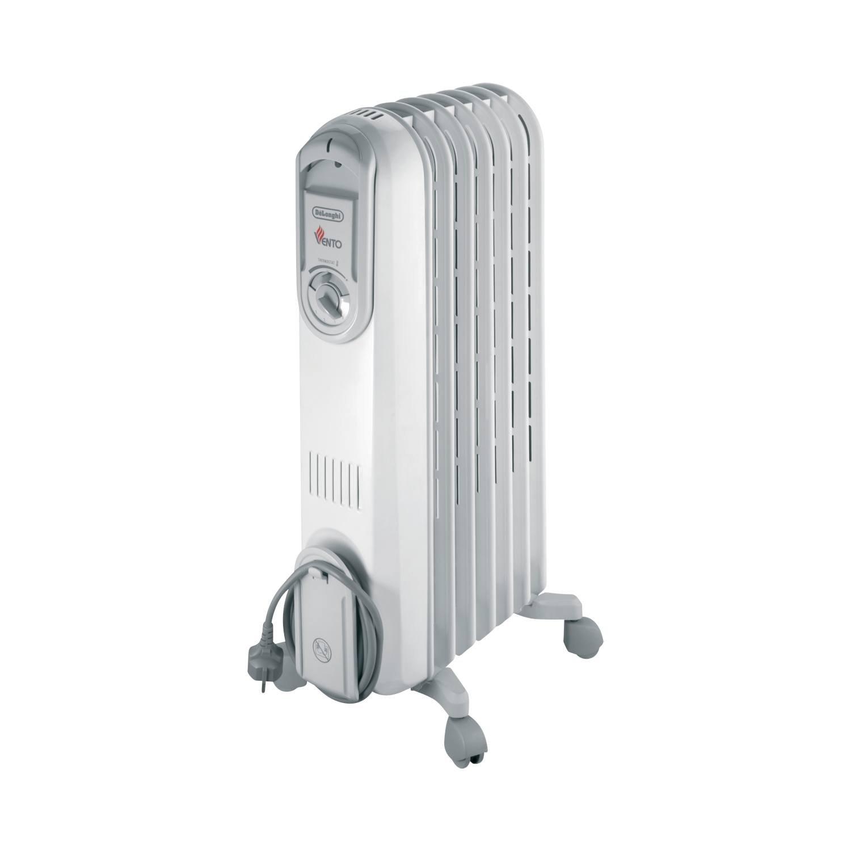 Delonghi safe heat oil filled radiator - De Longhi Vento Electric Oil Filled Radiator 1 5 Kw Grey White Amazon Co Uk Kitchen Home