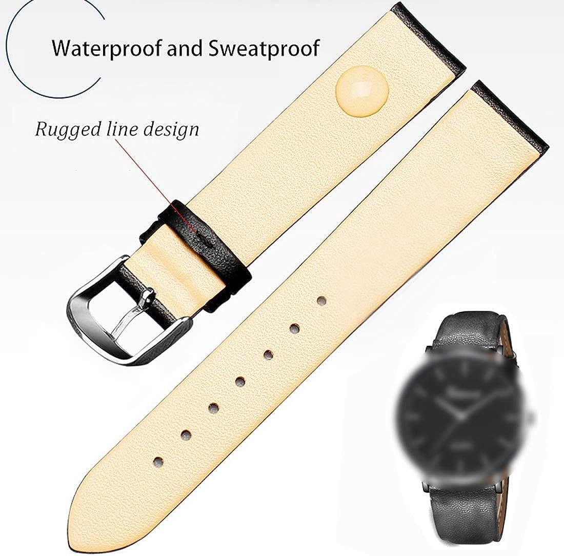 8mm/10mm/12mm/14mm/16mm/18mm/20mm/22mm/24mm Double Montre en Cuir Bande Fermoir en Acier Inoxydable Ardillon Accessoires watchbands Purple