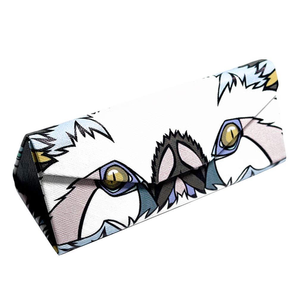 Foldable Leather Myopic Glasses Box Sun Glasses Case Ozzptuu Creative Magnetic Triangle Glasses Case
