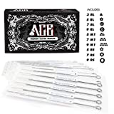 mix tattoo needles - ACE Needles 50 Mixed Assorted Tattoo Needles 10 Sizes - Round Liner Shader Magnum