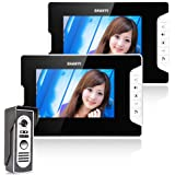 Ennio 7 Inch Video Door Phone Doorbell Intercom Kit 1-camera 2-monitor Night Vision