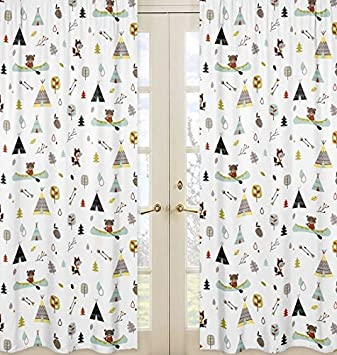 Amazon.com : Nature Fox Bear Animals Boys Window Treatment Panels ...