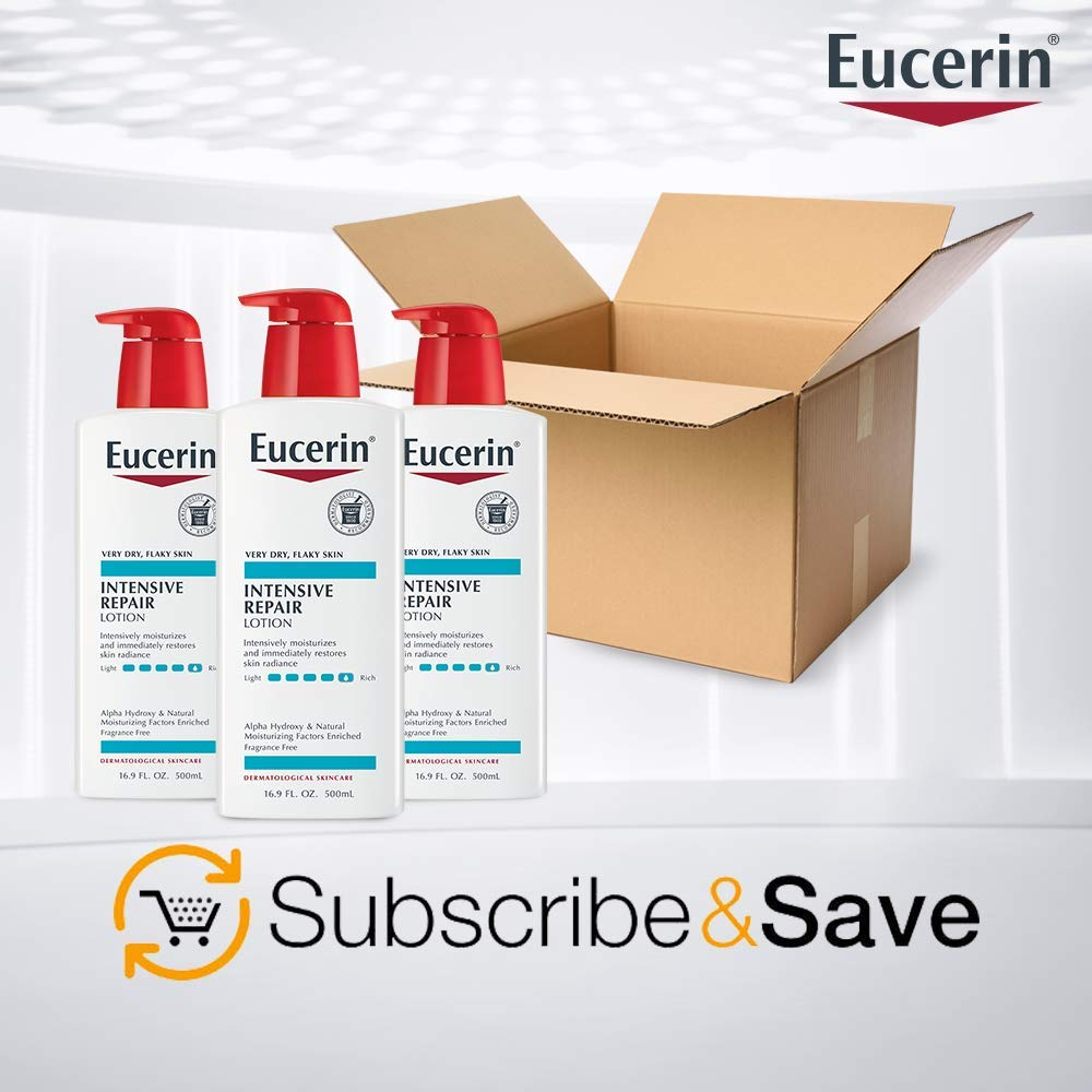 Eucerin Intensive Repair Lotion - Rich Lotion for Very Dry, Flaky Skin - Use After Washing With Hand Soap - 16.9 Fl. Oz. : Body Lotions : Beauty