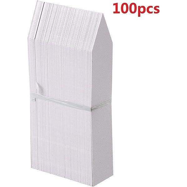 100x weiße Pflanzenetiketten Stecketiketten 1,3x 6cm Pflanzschilder Beschriftung