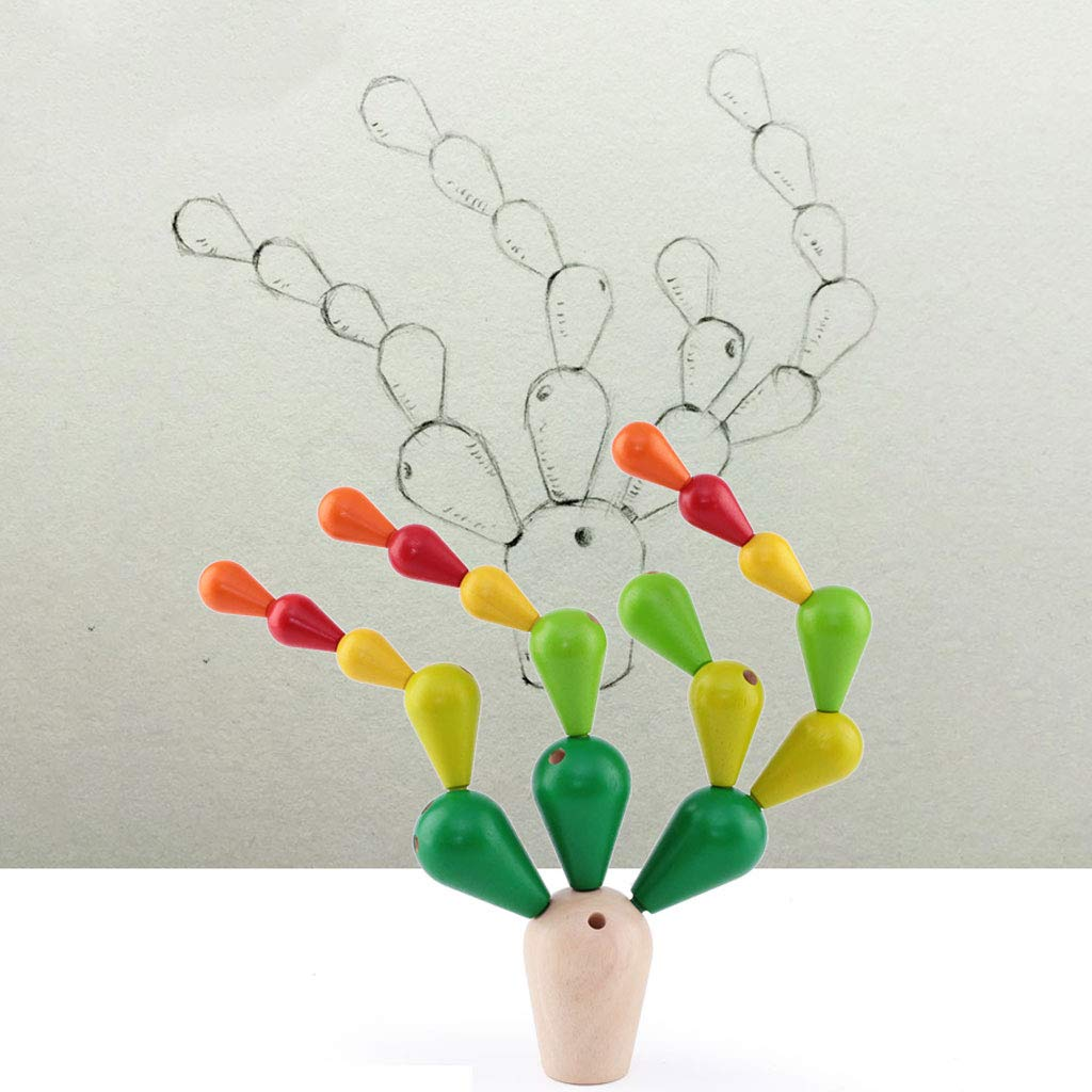 HXGL-Toys Wooden Prickly Pear Multi-Colored Toy Balance Children's Gift (Color : Green) by HXGL-Toys (Image #6)