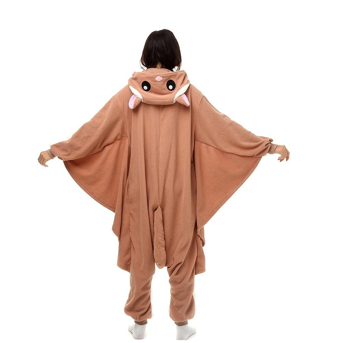 Amazon.com : HYY@ Kigurumi Pajamas Squirrel / Mouse Leotard/Onesie Halloween Animal Sleepwear White Patchwork Polar Fleece Kigurumi UnisexHalloween : Sports ...