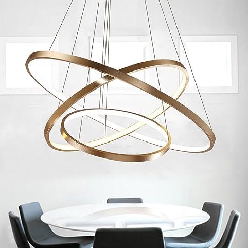 led lster modern acryl pendelleuchte drei ringe deckenlampe kreative kronleuchter hngeleuchte wohnzimmer schlafzimmer esszimmer gold deckenleuchter - Deckenlampe Wohnzimmer Gold