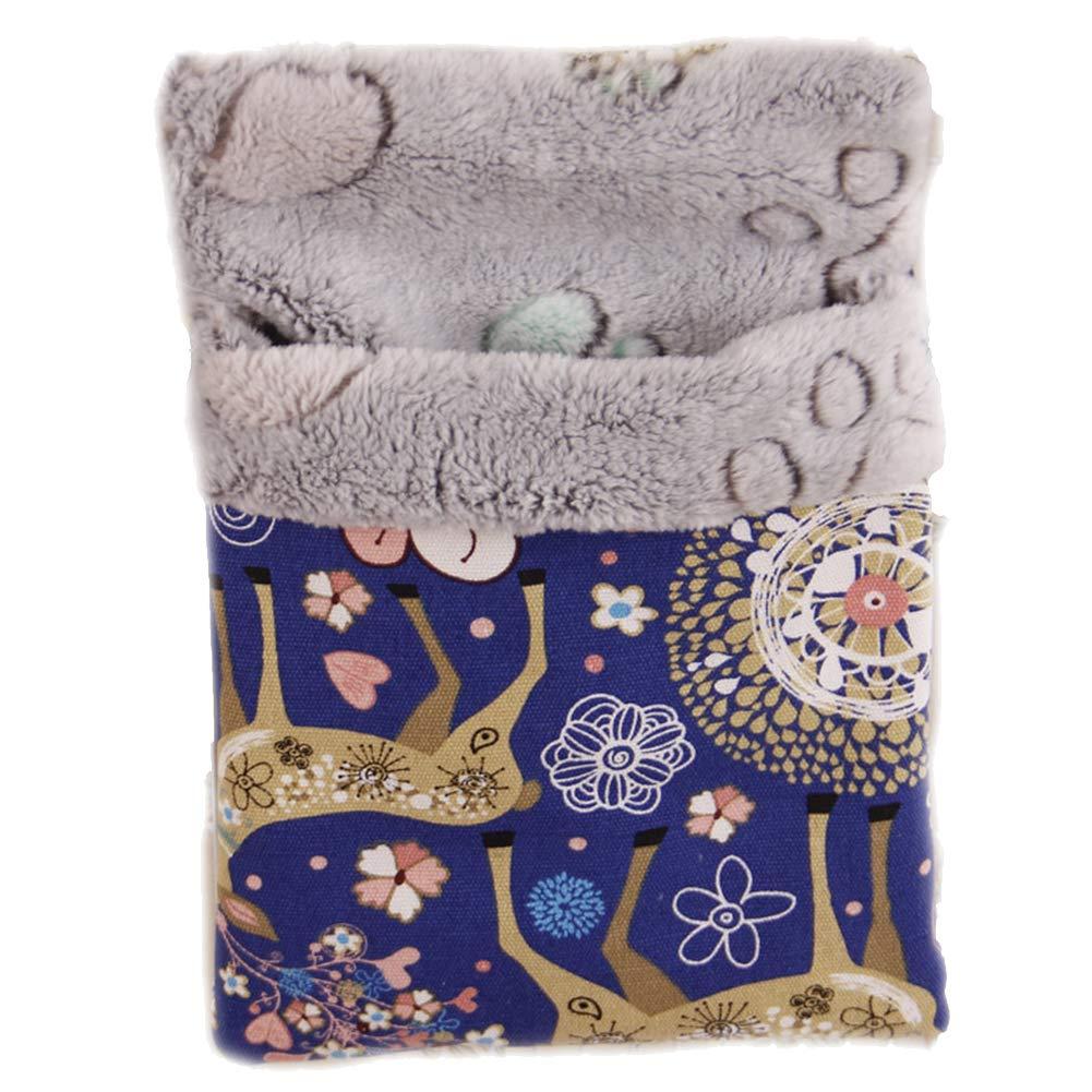 Medium Loghot Cotton Small Pet Hanging Bed Sleep Pouch Comfortable Warm Pet Sleep Bag for Small Animals (Medium)