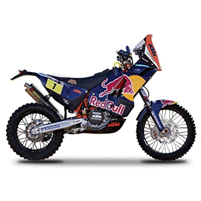 "KTM 450 Rally Dakar #1 ""Red Bull"" Motorcycle 1/18 by Bburago 51071: Toys & Games"