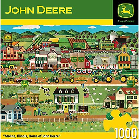 MasterPieces Moline, IL - Home of John Deere Jigsaw Puzzle, 1000-Piece