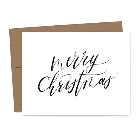 Merry Christmas Calligraphy.Amazon Com Simple Modern Calligraphy Merry Christmas