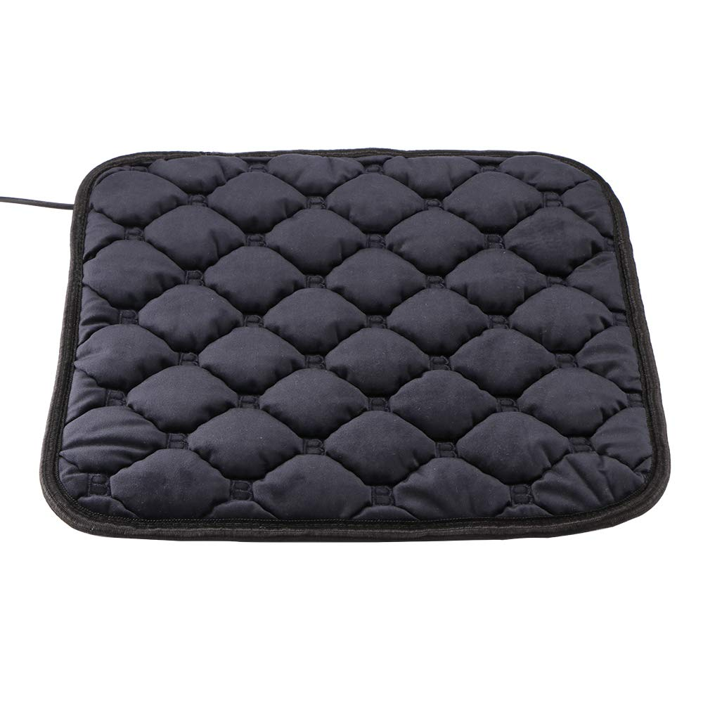 Black DDSKY Car Heating Seat Electric Heating Pad Cushion Massage Carbon Fiber Car Seat Heater 12V for for Cars SUV Truck