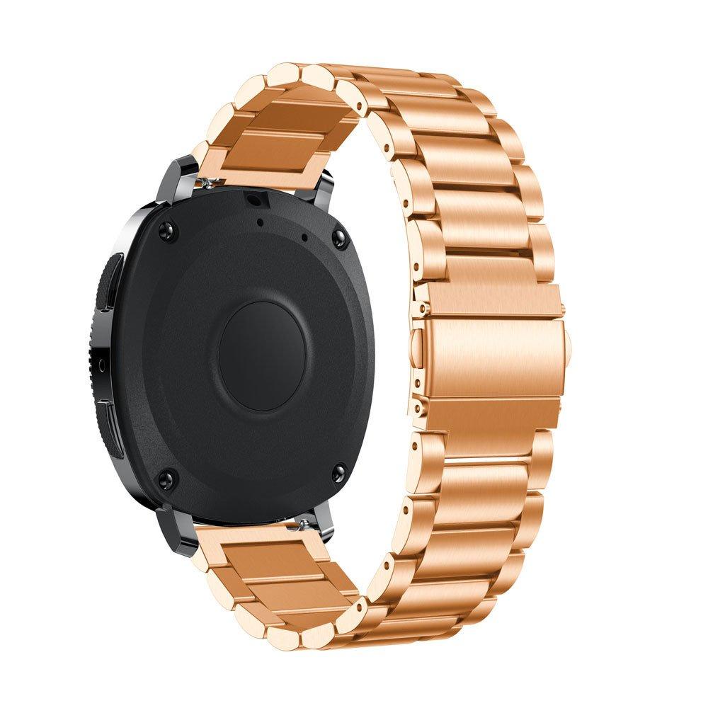 ☀️Modaworld Pulsera de Acero Inoxidable Correa de Reloj Inteligente Banda Muñequera para Samsung Gear Sport Smartwatch (Oro Rosa): Amazon.es: Deportes y ...