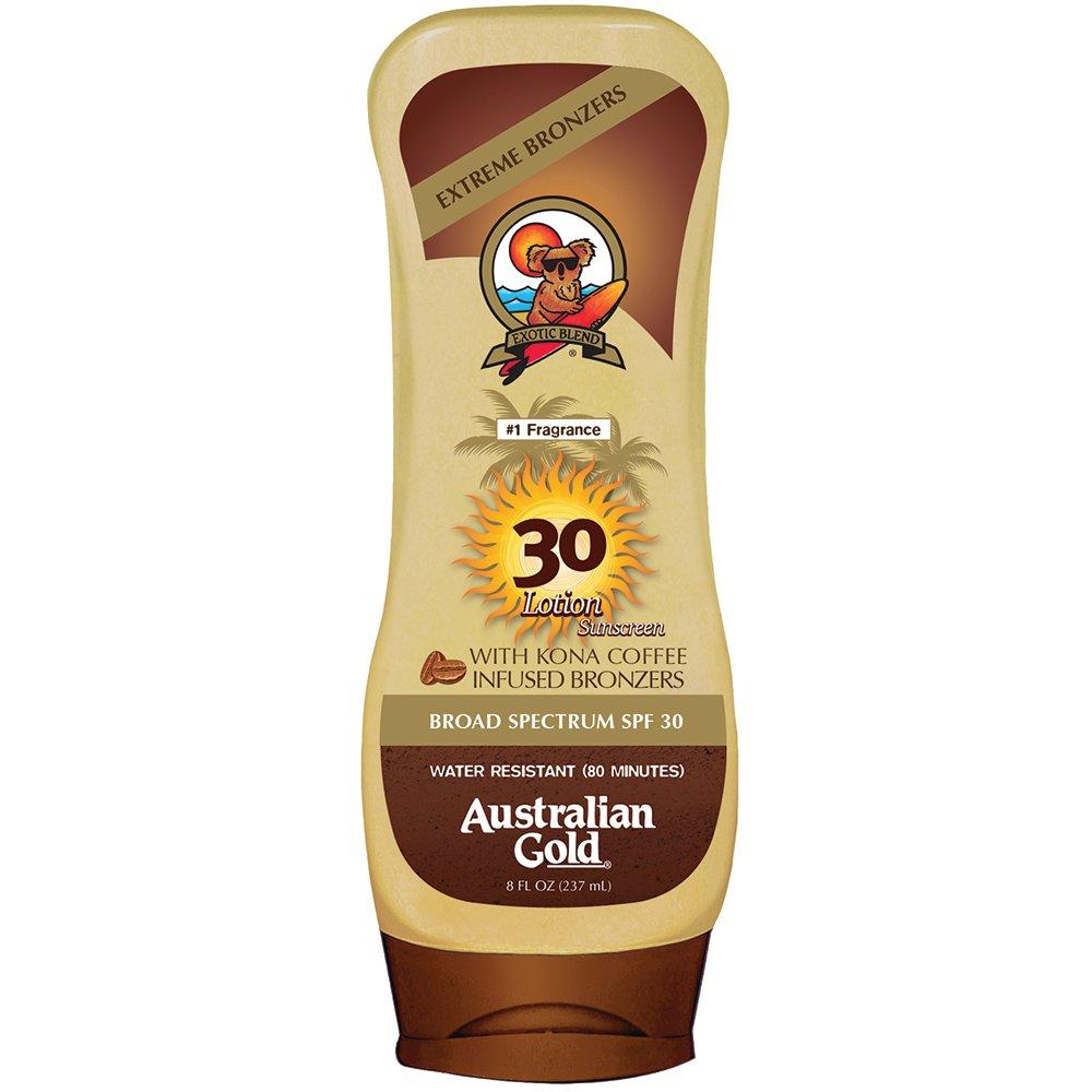Australian Gold SPF 30 Lotion Sunscreen With Kona Bronzers, 8 Fl Oz
