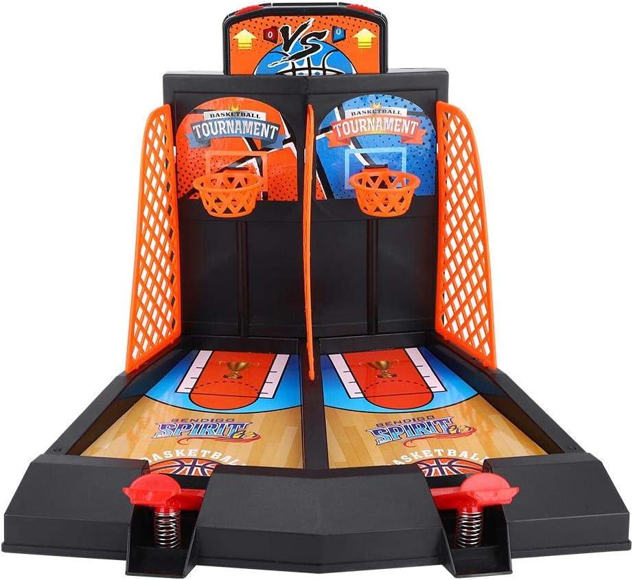 VGBEY Juego de Disparos de Baloncesto, Juego de Juguete de Inteligencia de Escritorio de Juego de Arcade de Mesa de Baloncesto para Niños de 2 Jugadores con 6 Bolas