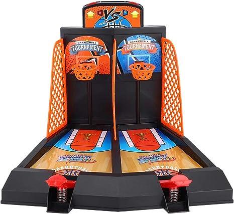 Juego de Tiro de Baloncesto 2-Jugador Mesa de Escritorio Juegos de Baloncesto Juegos clásicos de Arcade Juego de aro de Baloncesto para niños Adultos: Amazon.es: Deportes y aire libre